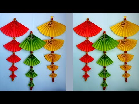 How to Make Paper Wall Hanging Very Easy And Simple !!!