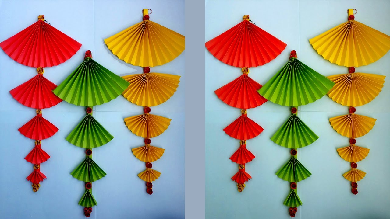 Classroom Decoration Hangings ~ How to make paper wall hanging very easy and simple