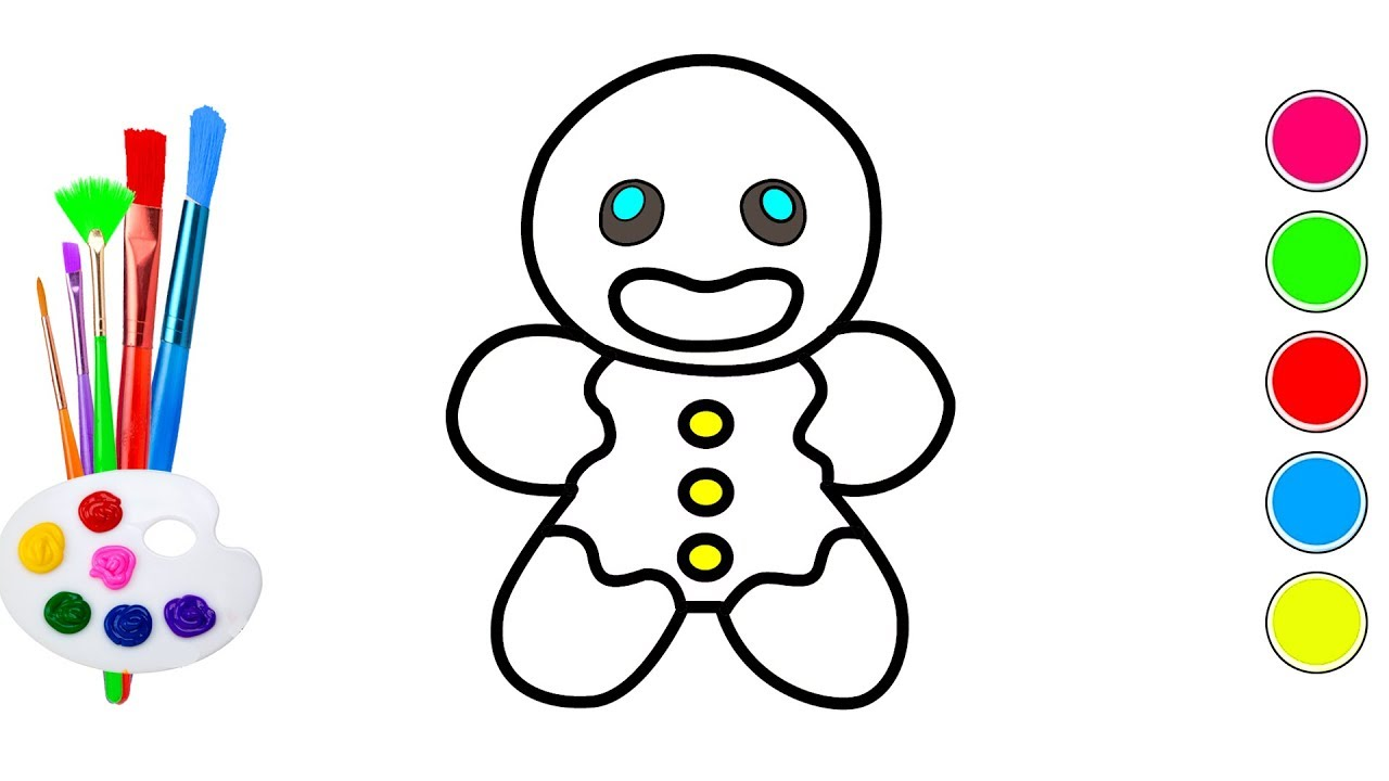 How to Draw Cute Gingerbread Man Easy for Beginners ...