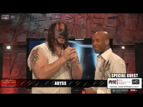 TNA Star Abyss Interview - He chokes out Reporter!