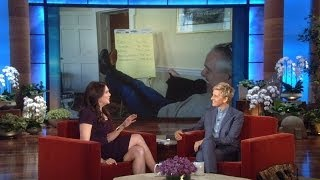 Lauren Graham's 1-Cent Check from Ellen