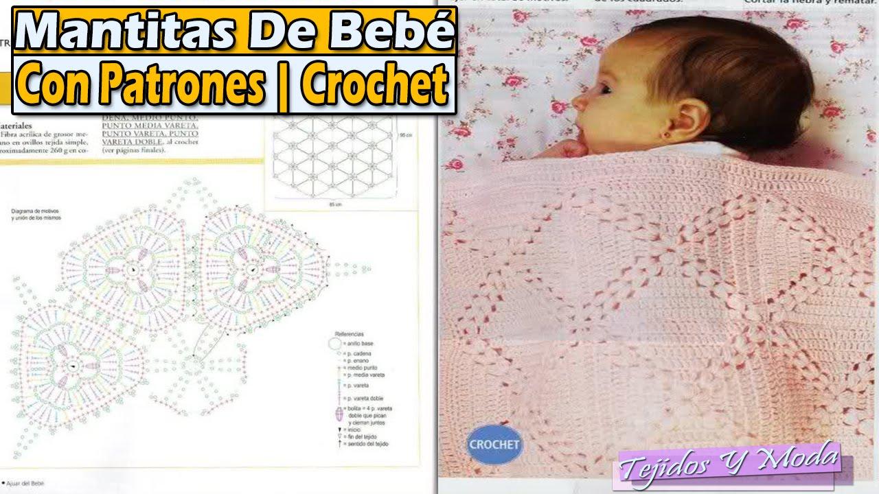 Asombroso Mantas De Ganchillo Bebé Libre De Patrones Cresta - Manta ...
