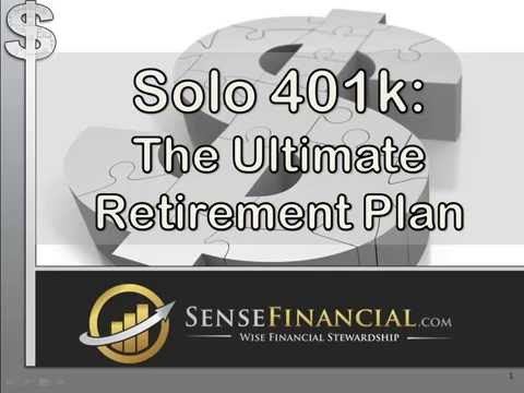 Self-Directed Solo 401k Pension Plan