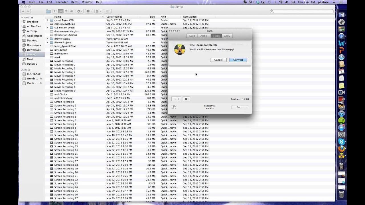How to burn DVD video on Mac with Mountain Lion