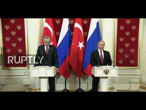 LIVE: Putin and Erdogan hold bilateral meeting in Moscow : joint press conference (ENG)
