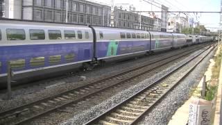 9 trains de marchandises+5 trains qui klaxonnent+10 trains TER+9 trains TGV