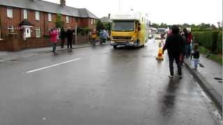 The Olympic Torch goes through Gretna in the rain