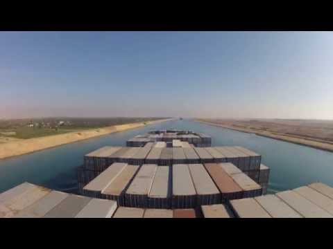 Suez Canal Northbound transit onboard Maersk Columbus