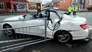mercedes benz crash compilation best mercedes accident ml e cl cls s gl part 2