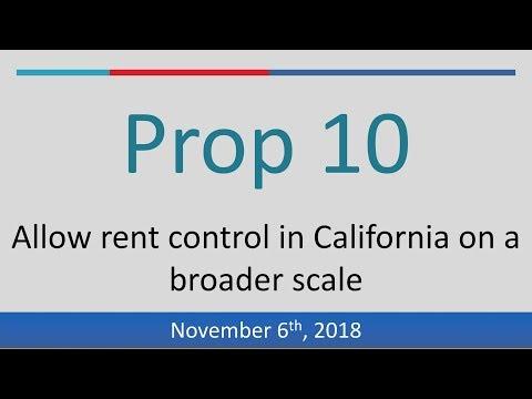 Proposition 10 (2018): Legalize Rent Control