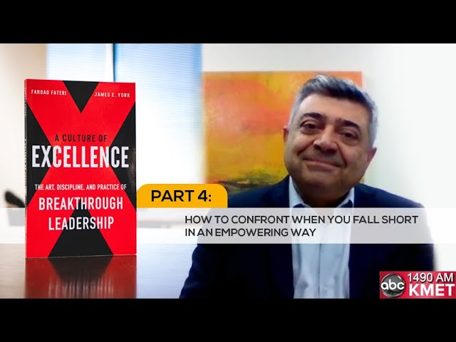 Interview with Dr. Fateri - Part 4: How to Confront When You Fall Short in an Empowering Way