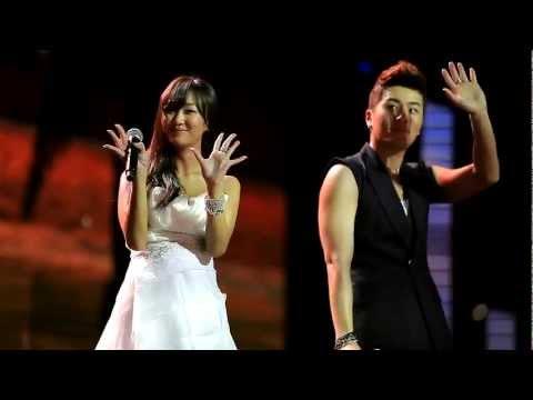 [HD FANCAM]130309 Eru Feat Hyorin (sistar) - Kemesraan Music Bank  Jakarta