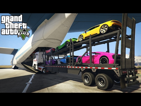 LOADING & HAULING EXOTIC CARS IN A CARGO PLANE! (GTA 5 PC Mo
