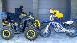 Мотоцикл VS  Квадрика что круче ?  Motorcycle VS ATV.