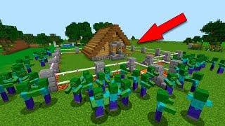 САМЫЙ ЗАЩИЩЁННЫЙ ДОМ ДОМ-ЛОВУШКА - ДЕРЕВНЯ ЖИТЕЛЕЙ 100 МУЛЬТИК ЛОВУШКИ Minecraft
