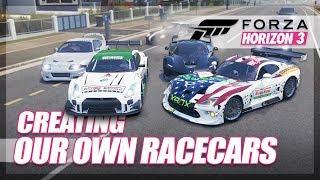 Video Forza Horizon 3 - Creating our own Sponsored Racecars! download MP3, 3GP, MP4, WEBM, AVI, FLV Agustus 2018