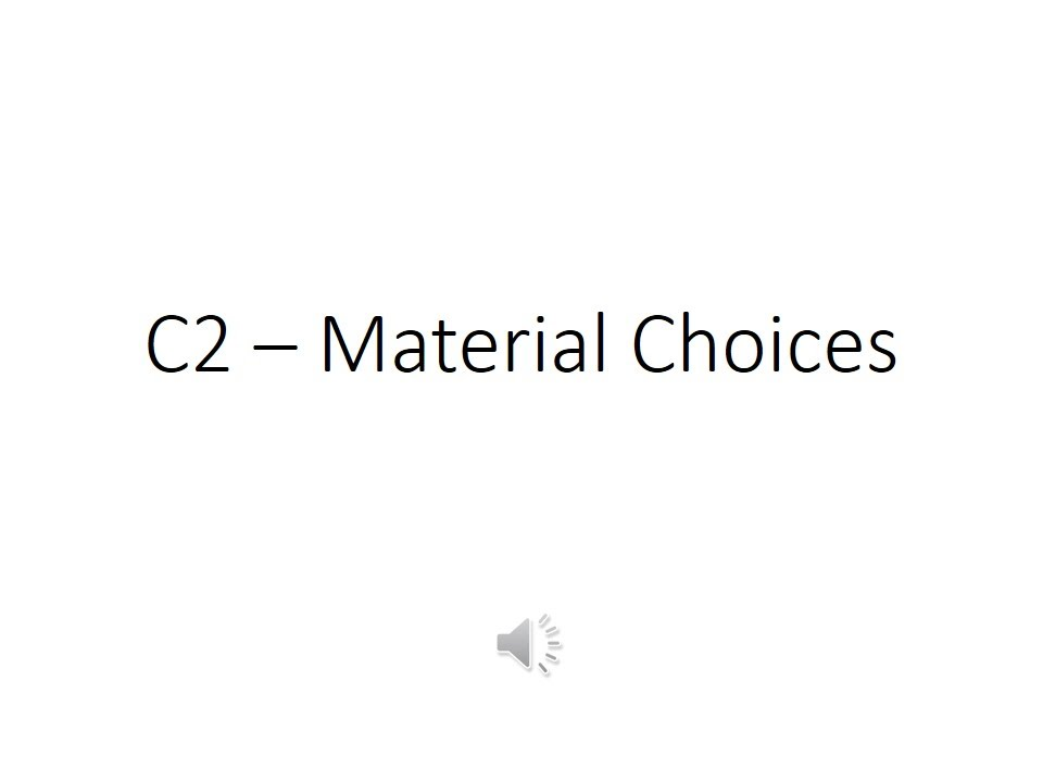 C2 Material Choices - GCSE Chemistry Core Science Revision - YouTube