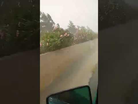Αυτοκινητόδρομο Ξυλοφάγου - Λιοπετρίου Ισχυρή Καταιγίδα με ριπαίους cm ανέμους (Straight line winds)
