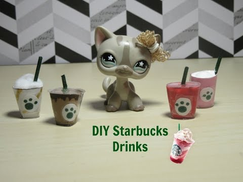DIY Starbucks Drinks for LPS and Dolls    No Hot Glue Required!