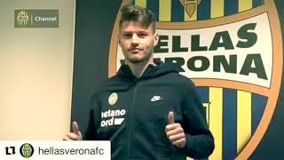 Il saluto di Bruno Petkovic ai tifosi dell'Hellas Verona