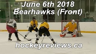 June 6th 2018 Bearhawks Hockey Front View, CCM Premier 2s