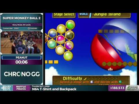 Super Monkey Ball 2 by peanut in 34:34 - Awesome Games Done Quick 2017 - Part 35