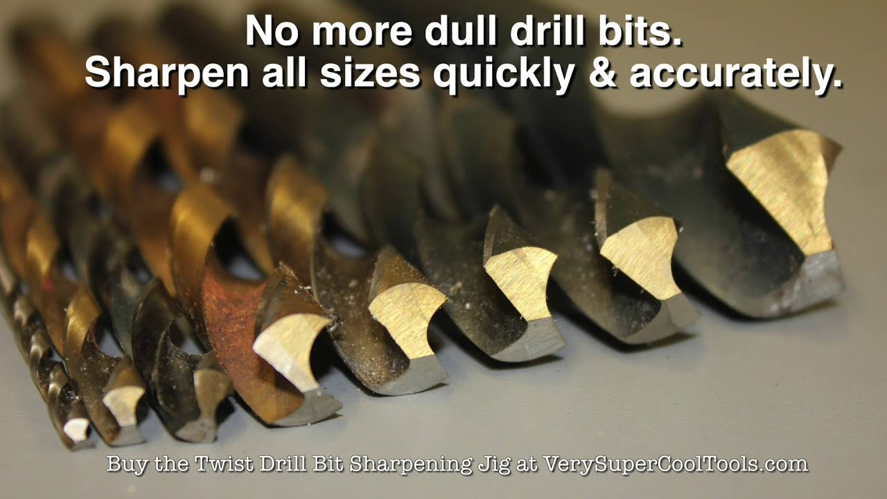 How to sharpen flat wood drill bits