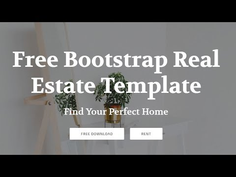 Bootstrap Real Estate Template Free Html Website Templates Youtube