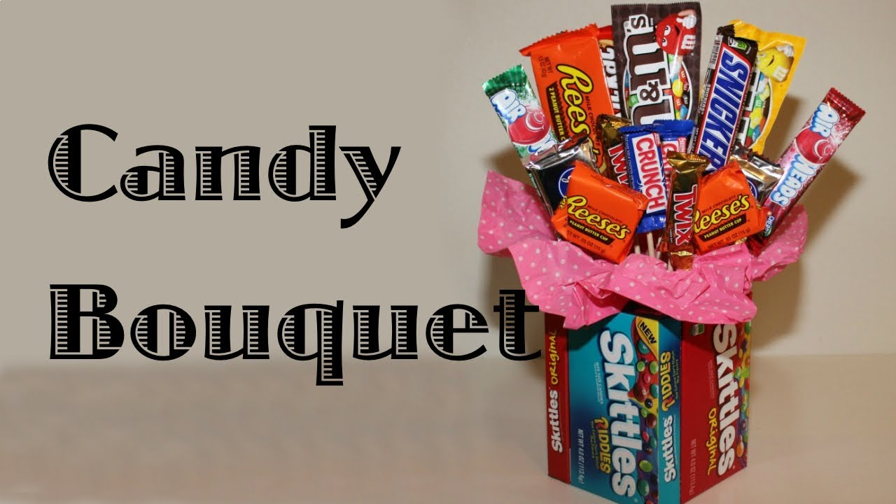 candy bouquet with candy vase   youtube