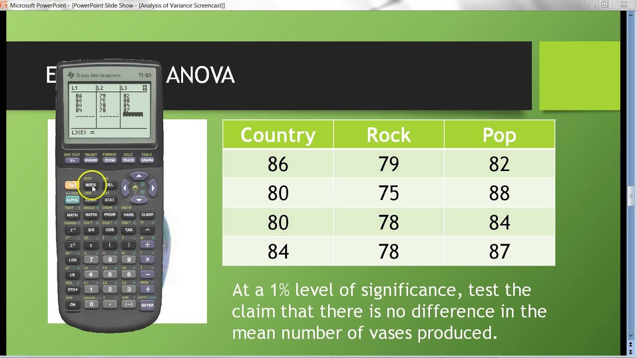 how to find variance on calculator