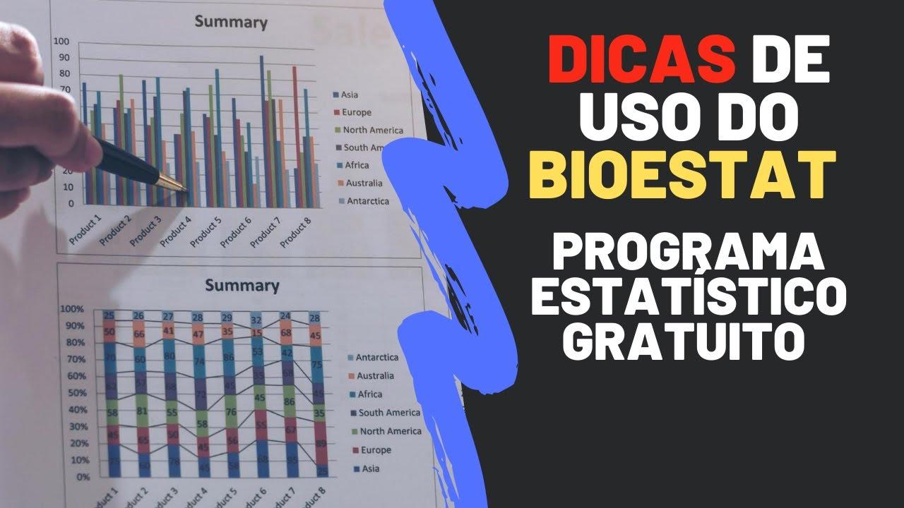 Dicas para uso do BioEstat