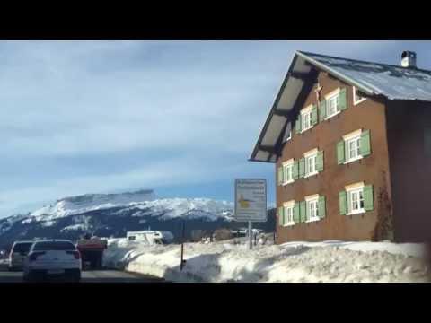 2012 Kleinwalsertal  Fahrt von Obersdorf nach Riezlern zum Riezler Hof