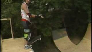 Brian's X Ramp Old School Skateboard Half Pipe Greenville Sc 1987