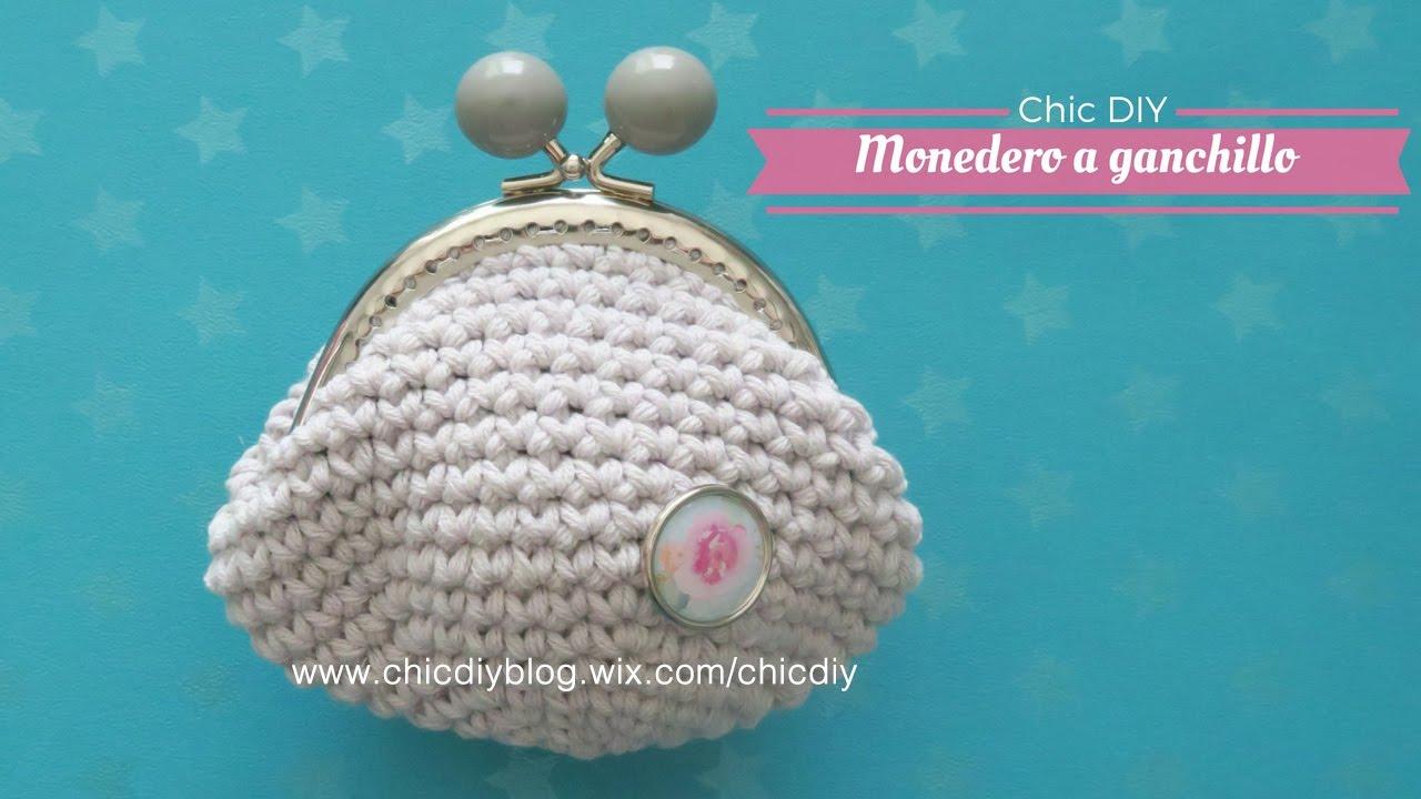 Monedero Crochet Como Hacer Un Monedero Ganchillo Chic Diy Youtube - Monederos-ganchillo