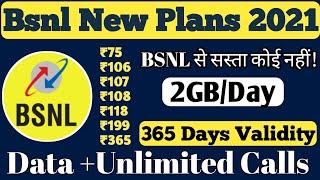 BSNL Prepaid Recharge Plans & Offers List 2020 || BSNL New Best Plans Unlimited Calling & 4G Data