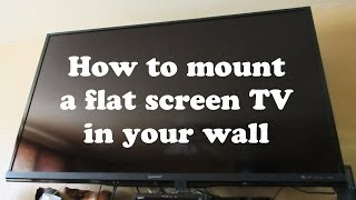 How To Install 60 Inch Flat Screen Tv Stand With Mount To Wall Rotating Pivots Swivel Brackets Video