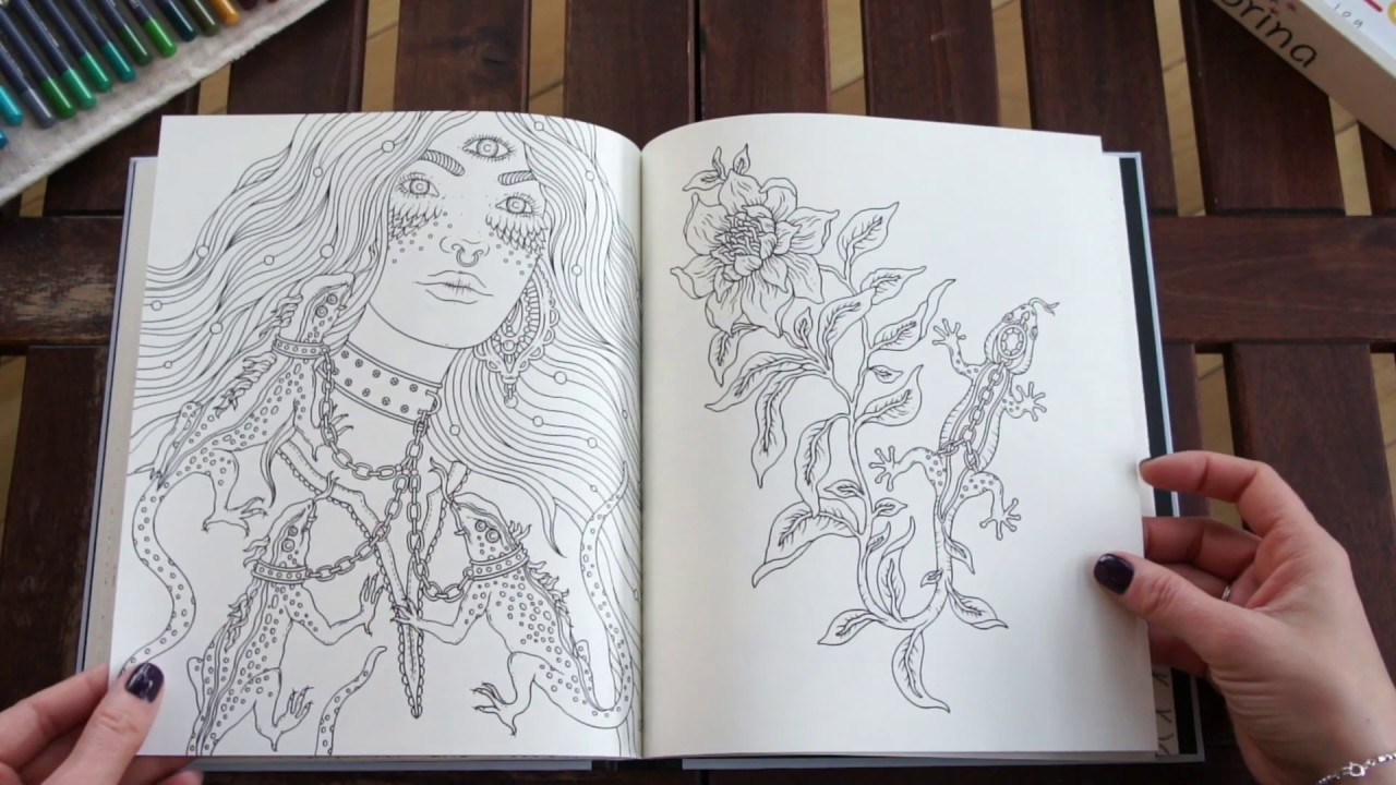 Själsfränder Spirit Animals Coloring Book Hanna Karlzon - flip through