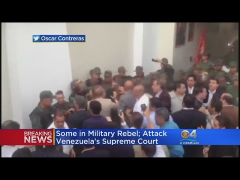 Military Helicopter Attacks Venezuela's Supreme Court Building