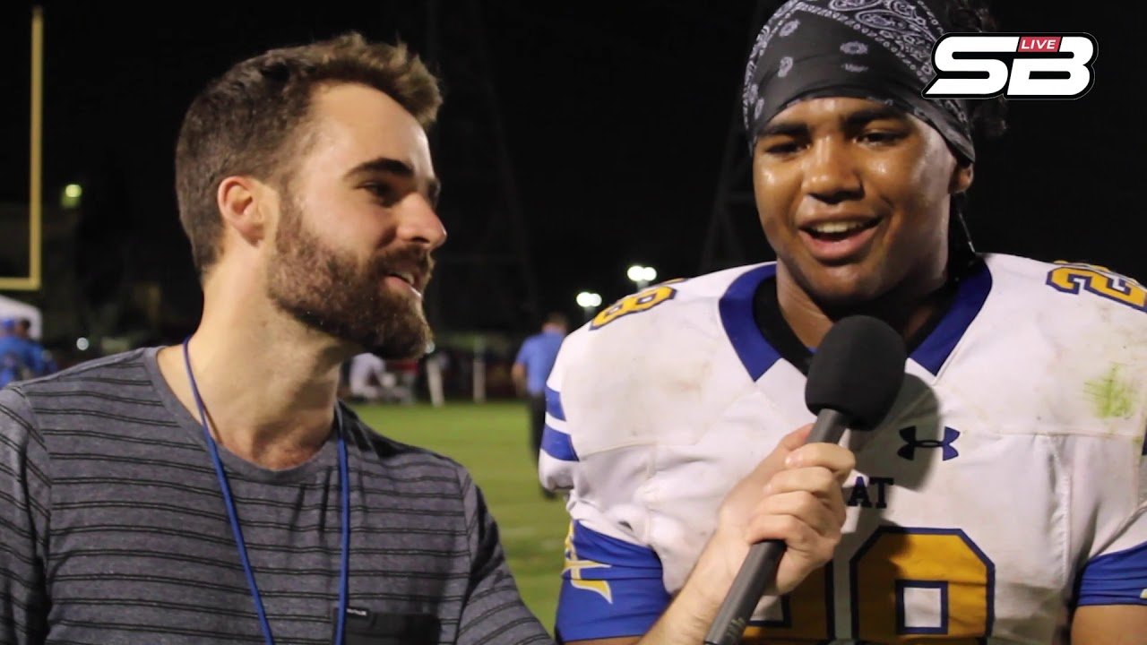 Bishop Amat running back Damien Moore discusses his big night against Alemany