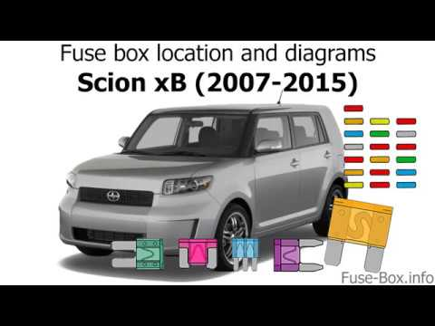 Fuse box location and diagrams: Scion xB (2007-2015) - YouTube