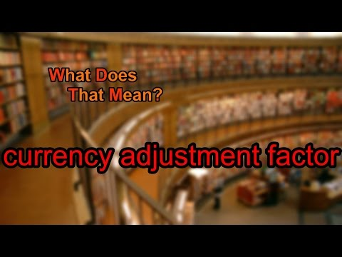 What does currency adjustment factor mean?