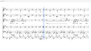 King Score様→https://score.kingoftinyroom.net/score/1926/ にて楽譜データ(pdf,midi,mscz等)を販売中です。 六声向けダブルリード楽譜です。6/8拍子ですがこの楽...