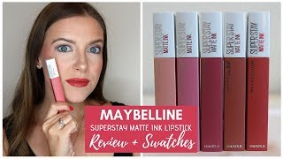 Maybelline Superstay Matte Ink Lipstick Review + Swatches