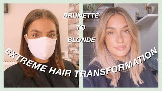 EXTREME HAIR TRANSFORMATION!! BRUNETTE TO BLONDE!   ALICE
