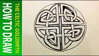 How to Draw Celtic Patterns 41 - Circular Triskele from St. Vigeans Pictish Cross 4of5