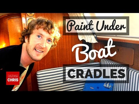 How to Paint Under Boat Cradles When Applying Antifouling (Bottom Paint)