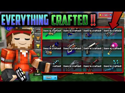 ALL CLAN CRAFTS IN PG3D!! - Pixel Gun 3D All Clan Weapons Gameplay/Review