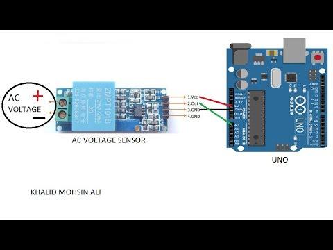 AC-VOLTAGE SENSOR WITH ARDUINO CIRCUITE (ZMPT101B)