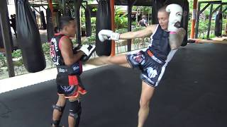 Brooke Farrell training for Rebellion Muay Thai 19