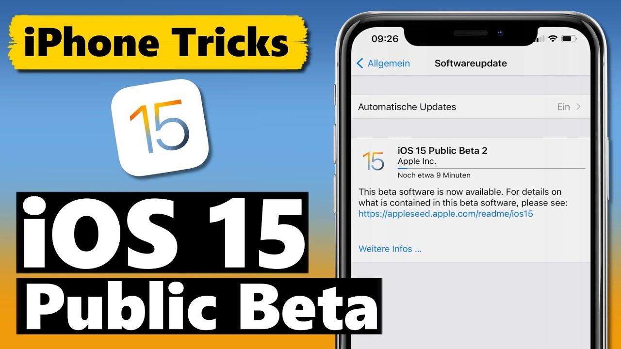 iOS 15 Public Beta installieren (offizielle iOS 15 Beta von Apple)
